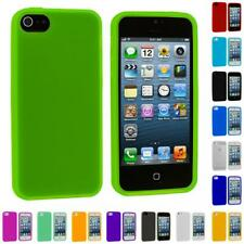 Color Silicone Gel Rubber Soft Skin Case Cover Accessory for Apple iPhone 5 5G