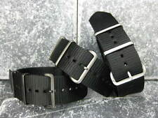 22mm Black Nylon Diver Strap 4 Rings Watch Band Military fit ZULU Maratac 22 A 5