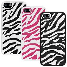 AMZER ZEBRA DESINED SILICONE RUBBER + TUFF HYBRID HARD CASE COVER FOR iPhone 5