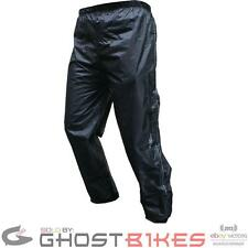 ROXTER UNLINED WATERPROOF MOTORCYCLE MOTORBIKE BLACK RAIN OVER PANTS TROUSERS