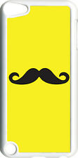 Plain Yellow and Black Mustache on iPod Touch 5th Gen 5G TPU Case Cover