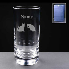 PERSONALISED CATS GLASS ENGRAVED Choice of 10oz / Hi-ball Glassware NEW Gift