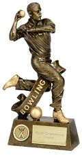 CRICKET TROPHY BOWLING BOWLER WINNER RESIN 3 SIZES AVAILABLE ENGRAVED FREE