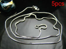 Sale Promotion wholesale 5 pcs 1mm box chain solid silver necklace gift HN07
