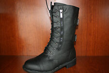 Top Moda Women Combat Military style Boots Pack 72 Black