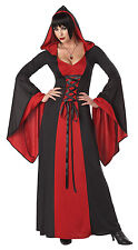 Adult Sexy Deluxe Red Hooded Robe Vampire Vampiress Witch Costume Halloween