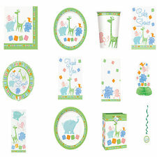 Baby Shower Unisex Animal Party Supplies Tableware Decorations All here Free P+P