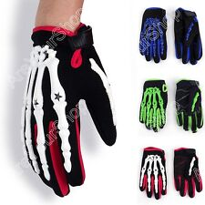Motorcycle Motocross Cycling Dirt Bike Full Finger Gloves Hand Bone Skeleton LE