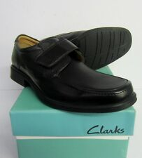 Clarks Mens Hook Roll Black Leather RipTape Causal Shoes   Fitting (G)