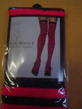 Leg Avenue Sexy Adult Womens Nylon Stripe Striped Thigh Highs Tights Stockings