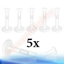 5 x Bioflex Labret Retainers Push In Top Body Piercing Jewellery