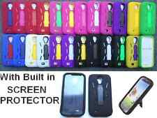Samsung Galaxy S 4G S4 i9500 SGH-M919 PHONE CASE with BUILT IN SCREEN PROTECTOR
