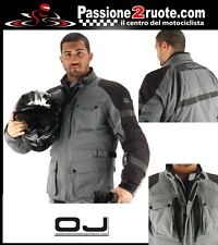 Jacket moto touring 3 layers waterproof OJ J131 Navigator Titanium Black M