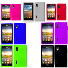 For LG Optimus Extreme L40G Rubber SILICONE Soft Gel Skin Case Phone Cover