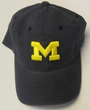 NCAA Michigan Wolverines Adidas Curve Brim Flex Slouch Logo Cap Hat NEW!