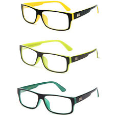 Trendy and Fun Non Prescription Clear Lens Glasses with Sleek Rectangular Frame