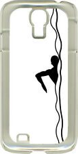 Black and White Swimmer Design on Samsung Galaxy S4 Hard or Rubber Case Cover