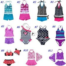 HALTER GIRLS BEACH POOL SWIMSUIT SWIMMING COSTUME BIKINI TANKINI AGE 7-14 BNWT
