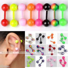 18G Stainless Steel Ball Barbell Tragus Ear Cartilage Stud Plug Earring Piercing