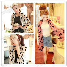 Lady  Butterfly Spring Autumn Winter Chiffon Scarf Shawl Wrap 3 Colors