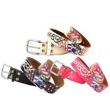 Ed Hardy Multi EH3104 True Love Panther Girls-Leather Belt