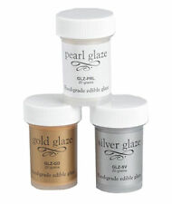 Fondant Glaze Food Grade & Edible from Bakery Craft - Silver, Gold or Pearl