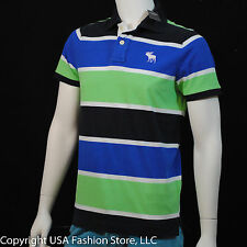 Abercrombie & Fitch Men's Polo Manches Courtes Green Blue Navy NWT