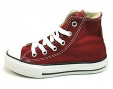 CONVERSE All Star Hi Top Shoes Boys Maroon Athletic Sneakers Youth Chuck Taylor