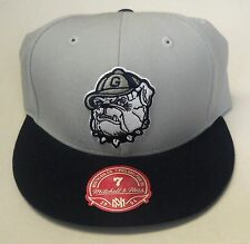 NCAA Georgetown Bulldogs Mitchell and Ness 2 Tone Fitted Cap Hat M&N NEW!