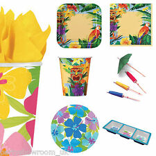 Tropical Luau Caribbean Themed Party Tableware Plates Napkins One Listing PS