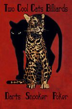 Leopard Pool Billiards Darts Poker Snooker Game Room Poster Repro FREE S/H