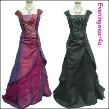 Cherlone Satin Long Lace Prom Bridesmaid Formal Wedding/Evening Ball Gown Dress