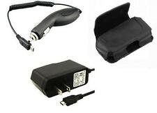 Holder Case Clip Pouch + Travel Home Wall + Car Vehicle Charger for ATT Phones