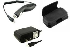 Vehicle Car + Travel Home Wall Charger + Holder Case Pouch for Verizon Phones