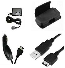 Vehicle Adapter + USB Data Cable + Home Charger + Holder Case Pouch for Samsung