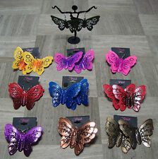 BIG-BUTTERFLY EARRINGS-PINK,PURPLE,YELLOW,BLUE,RED,GREEN,GOLD,COPPER #82