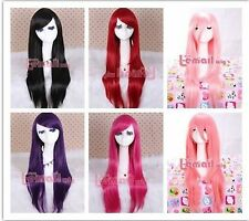 Hot 80cm long straight fashion collection women Halloween party cosplay hair wig