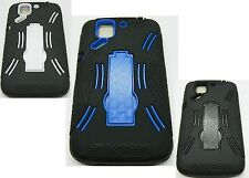 For Pantech Flex P8010 Kickstand Double Layer Cell Phone Accessory Case black