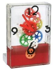 Fascinations Gear Up Multi Color Dorm Room Home Office Desktop Unique Time Clock
