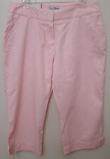 Steve & Barrys - Brown or Pink Classic Chino Capri Pants - Size 2 to 16