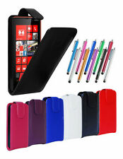 LEATHER FLIP CASE COVER POUCH, LCD FILM & STYLUS FOR NOKIA LUMIA 820