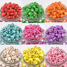 ON Sale 40pcs Turquoise Skull Head Spacer Beads 9 Colors 0177BZ 10X8mm