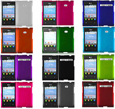 Verizon LG Optimus Zone VS410 Rubberized HARD Protector Case Snap On Phone Cover
