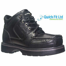 BOYS BLACK SCHOOL SHOES KIDS LACE UP ANKLE HIGH TOP TRAINERS SCHOOL SHOES SIZES