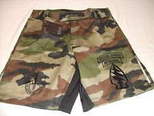 US ARMY SPECIAL FORCES SF WOODLAND COMBATANT MMA PT FIGHT / BOARD SHORTS S - 4XL