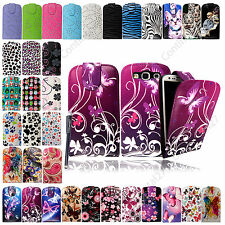 For Samsung Galaxy S3 III i9300 Printed Leather Magnetic Flip Case Cover +Stylus