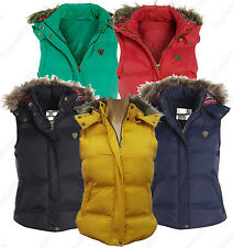 Size 8 10 12 14 16 Womens GILET BODYWARMER Ladies JACKET PADDED Coat Waistcoat