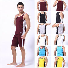 Men's Sleeveless Muscle Vest Athletic Sport Jersey A-Shirt Tank Tops Undershirt