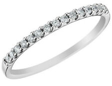 Ladies Round Cut Diamond Pave Wedding Engagement Band Ring in 14K Gold