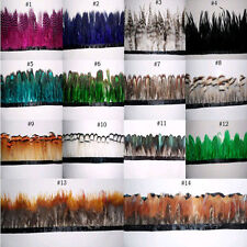 1 yards beautiful pheasant feathers ribbon choose different style